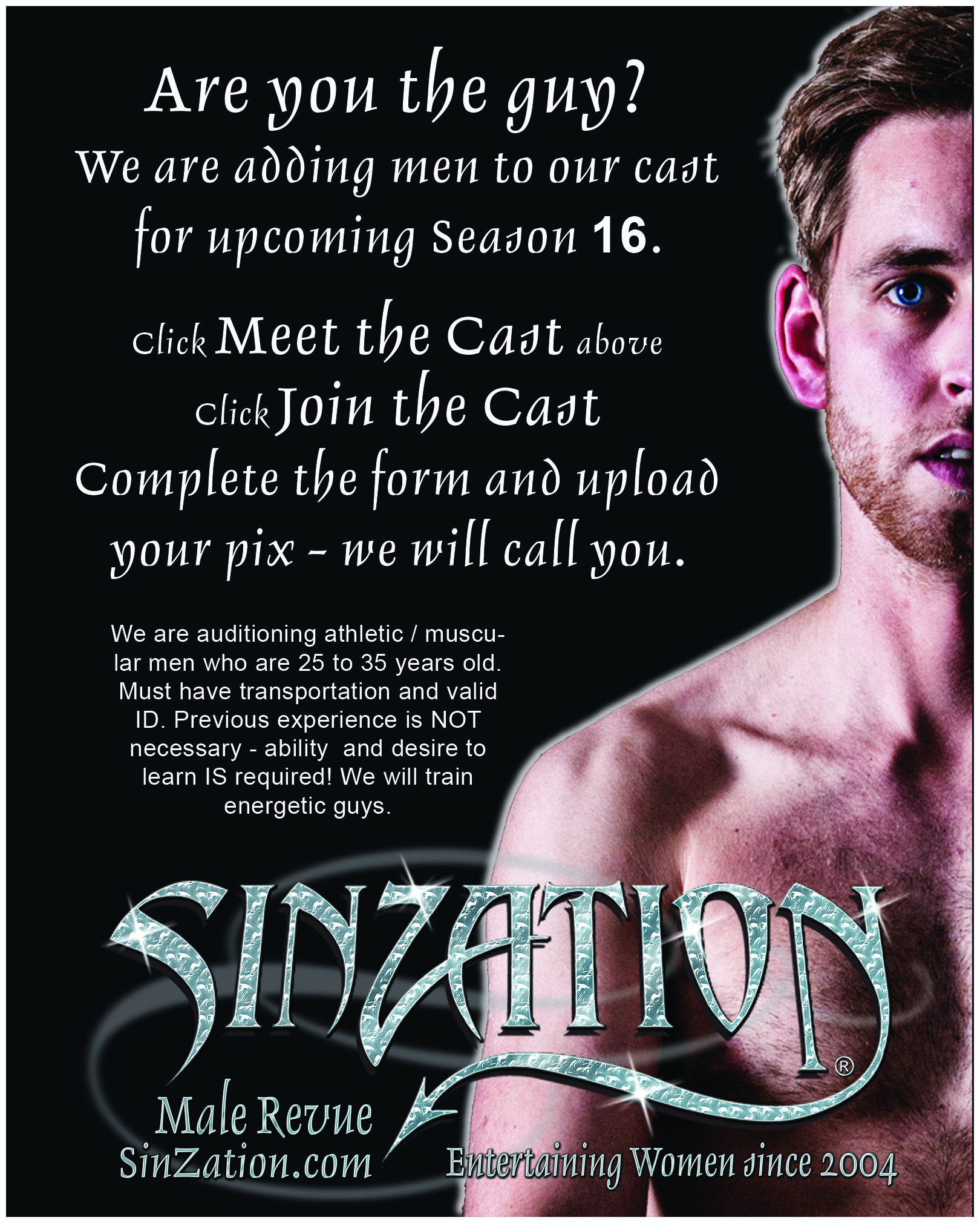Audition for the best male revue in Chicago